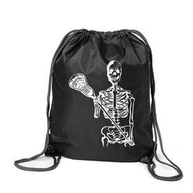 Guys Lacrosse Sport Pack Cinch Sack - Skeleton (White)