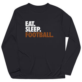 Football Long Sleeve Performance Tee - Eat. Sleep. Football.