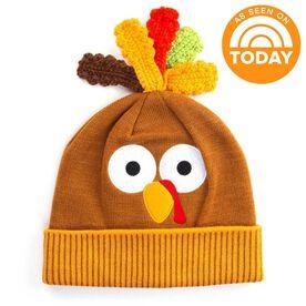 Happy Hatter Thanksgiving Turkey Knit Beanie Hat