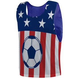 Soccer Pinnie - USA Soccer Ball