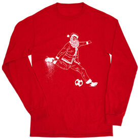 Soccer Tshirt Long Sleeve - Santa Player