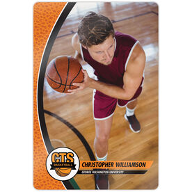"""Basketball 18"""" X 12"""" Aluminum Room Sign - Player Photo With Logo"""