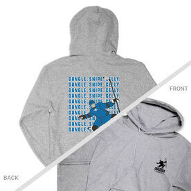 Hockey Hooded Sweatshirt - Dangle Snipe Celly Player (Logo Collection)