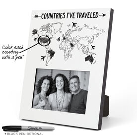 Personalized Photo Frame - Countries I've Traveled