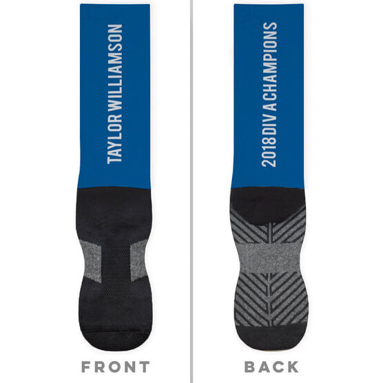 Personalized Printed Mid-Calf Socks - Your Text