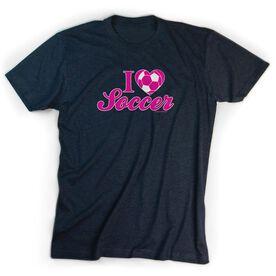 Soccer Tshirt Short Sleeve I Heart Soccer (Ball)