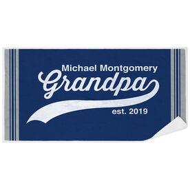 Personalized Premium Beach Towel - Rocking Being A Grandpa
