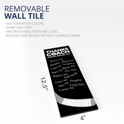 "Hockey 12.5"" X 4"" Removable Wall Tile - Thanks Coach (Autograph) Vertical"