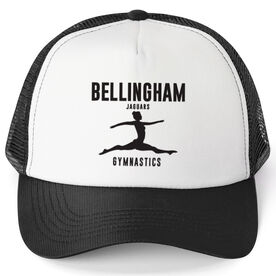 Gymnastics Trucker Hat - Team Name With Text