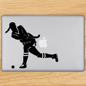 Field Hockey Field Hockey Girl Shooting Removable ChalkTalkGraphix Laptop Decal