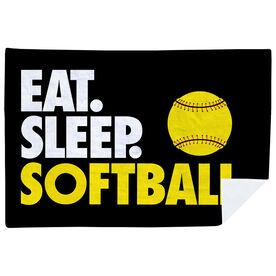 Softball Premium Blanket - Eat. Sleep. Softball. Horizontal