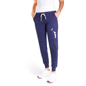 Basketball Women's Joggers - Basketball Silhouette Girl