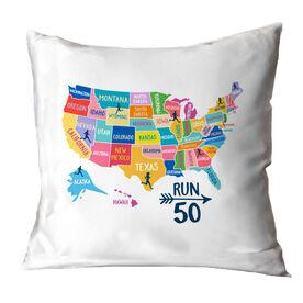 Running Throw Pillow - Run 50