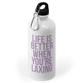 Girls Lacrosse 20 oz. Stainless Steel Water Bottle - Life Is Better When You're Laxing