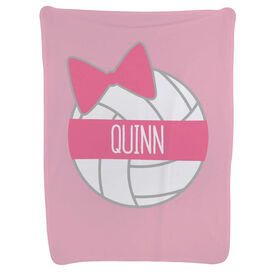 Volleyball Baby Blanket - Personalized Volleyball Bow