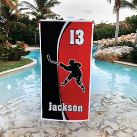 Hockey Premium Beach Towel - Personalized Slapshot