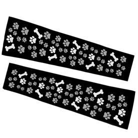 Printed Arm Sleeves - Paw Prints and Bones