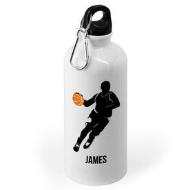 Basketball 20 oz. Stainless Steel Water Bottle - Basketball Guy Player Silhouette