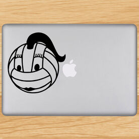 Volleyball Removable Laptop Decal Female Volleyball Character