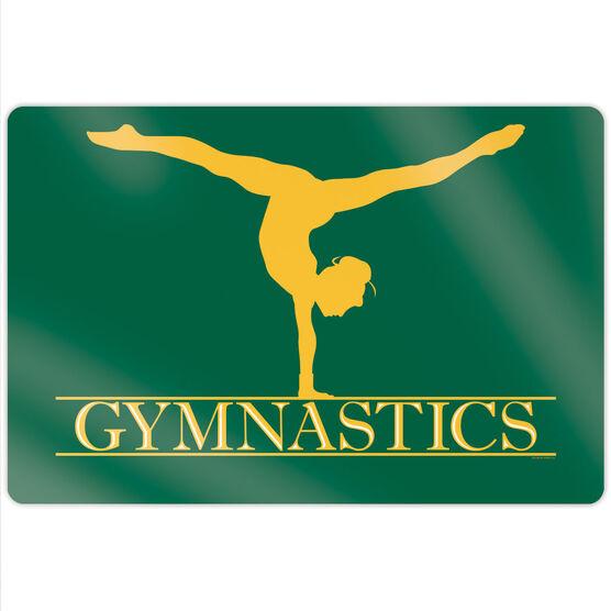 """Gymnastics 18"""" X 12"""" Aluminum Room Sign - Crest"""