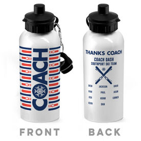 Skiing 20 oz. Stainless Steel Water Bottle - Coach With Roster