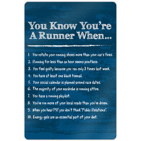 "Running 18"" X 12"" Aluminum Room Sign - You Know You're A Runner When"