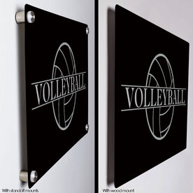 """Volleyball 18"""" X 12"""" Aluminum Room Sign - Crest"""