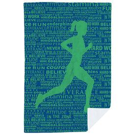 Running Premium Blanket - Inspiration Female
