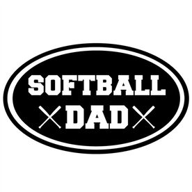 Softball Dad Oval Vinyl Decal