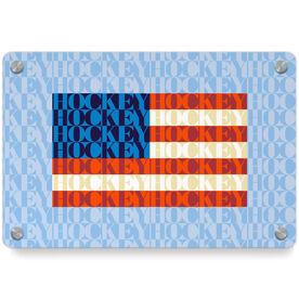 Hockey Metal Wall Art Panel - American Flag Mosaic