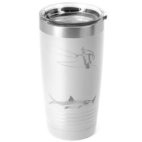 Fly Fishing 20 oz. Double Insulated Tumbler - Gray Ghost of the Flats