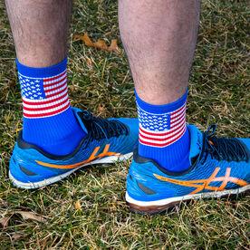 Woven Mid-Calf Socks - American Flag