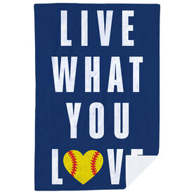 Softball Premium Blanket - Live What You Love