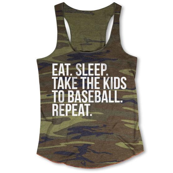 Baseball Camouflage Racerback Tank Top - Eat Sleep Take The Kids To Baseball