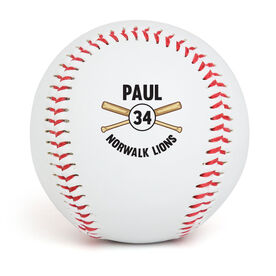 Personalized Player Name and Number Baseball