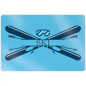 """Skiing 18"""" X 12"""" Aluminum Room Sign - Crest"""