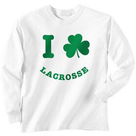 Lacrosse Long Sleeve T-Shirt - Shamrock Lacrosse Smile