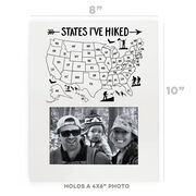 Photo Frame - States I've Hiked Outline