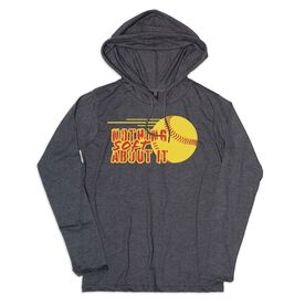 Women's Softball Lightweight Hoodie - Nothing Soft About It