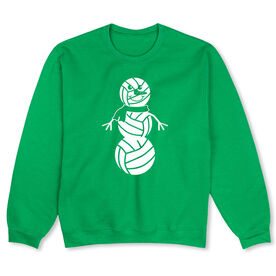Volleyball Crew Neck Sweatshirt - Volleyball Snowman (Special Edition)