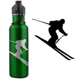 Skiier Silhouette 24 oz Stainless Steel Water Bottle