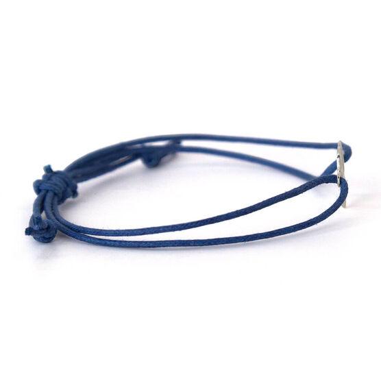 Unstoppable Run Girl Sterling Silver Cord Bracelet