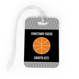 Basketball Bag/Luggage Tag - Personalized Basketball Team with Ball