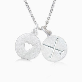 Livia Collection Sterling Silver Field Hockey Crossed Sticks Love Necklace