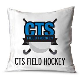 Field Hockey Throw Pillow Custom Field Hockey Logo With Team Name
