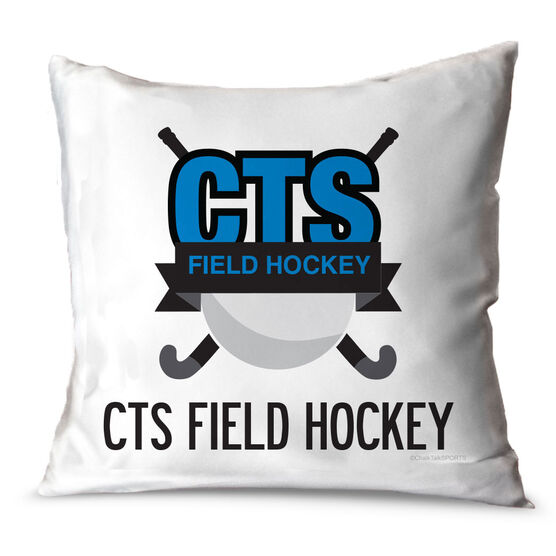 Field Hockey Throw Pillow Custom Field Hockey Logo With Team Name