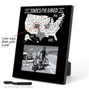 Photo Frame - States I've Biked Outline