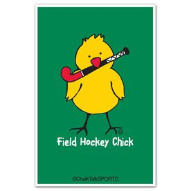 Field Hockey Chick Decal