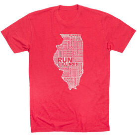 Running Short Sleeve T-Shirt - Illinois State Runner