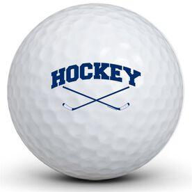 Hockey Crossed Sticks Golf Balls